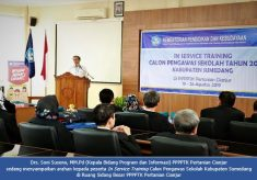 In Service Training Calon Pengawas Sekolah Kabupaten Sumedang di PPPPTK Pertanian