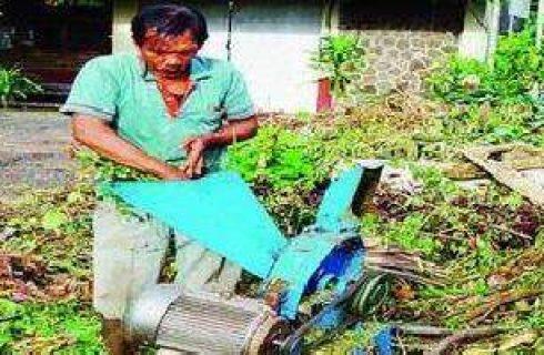 Pencacah Sampah Sisa Hasil Pertanian