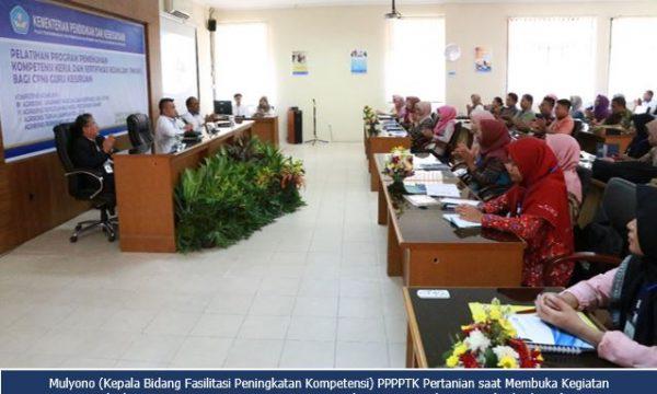 Pelatihan Program Pemenuhan Kompetensi Kerja dan Sertifikasi Keahlian (PKKSK) Bagi CPNS Guru Kejuruan Pertanian