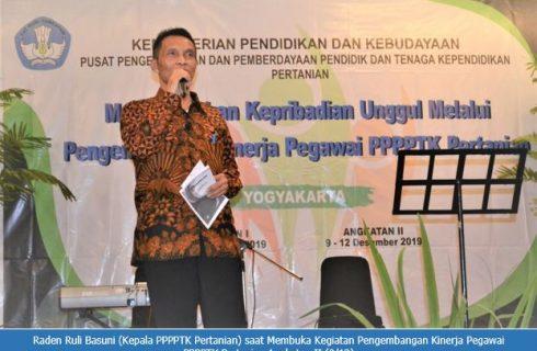 Kepala PPPPTK Pertanian Membuka Kegiatan Pengembangan Kinerja Pegawai PPPPTK Pertanian 2019 Angkatan Ke-2
