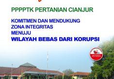 Selamat Datang di Kawasan Zona Integritas PPPPTK Pertanian menuju WBK