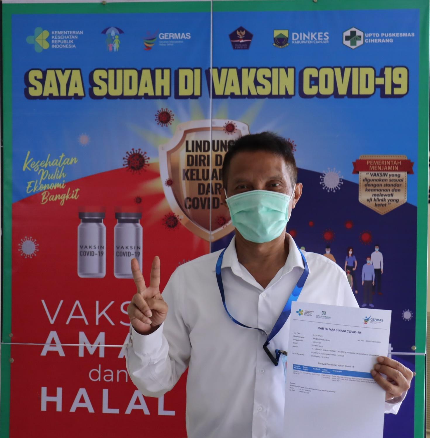 PEGAWAI DAN PURNATUGAS BBPPMPV PERTANIAN SUDAH DIVAKSIN COVID-19
