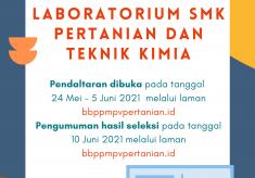 Pendaftaran Pelatihan Teknisi Laboratorium/Laboran SMK Pertanian dan Teknik Kimia